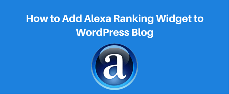 Adding Alexa Ranking Widget to WordPress