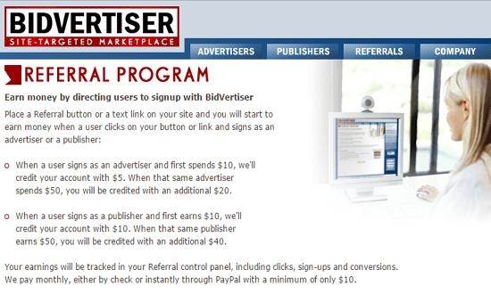 Bidvertiser Referral Program