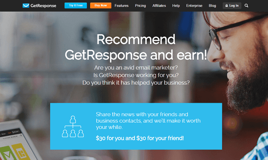 Recommend GetResponse and Earn