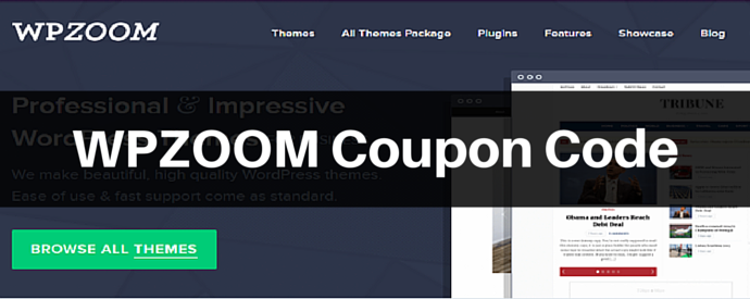 WPZOOM Coupon Code