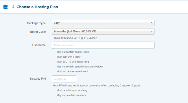 HostGator Hosting Plan