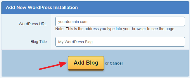 HostGator Optimized WordPress Installation