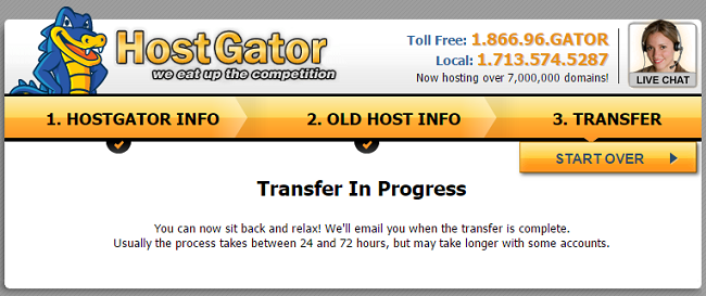 Transfer in Progress