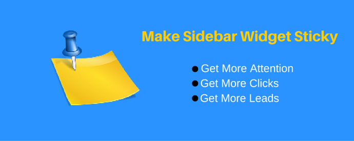 Make WordPress Sidebar Widget Sticky
