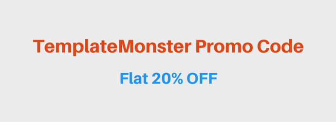 Template Monster Promo Code 2017 Flat 20 Off