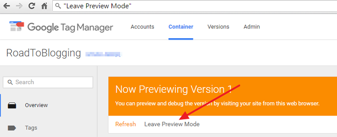 Leave Preview Mode