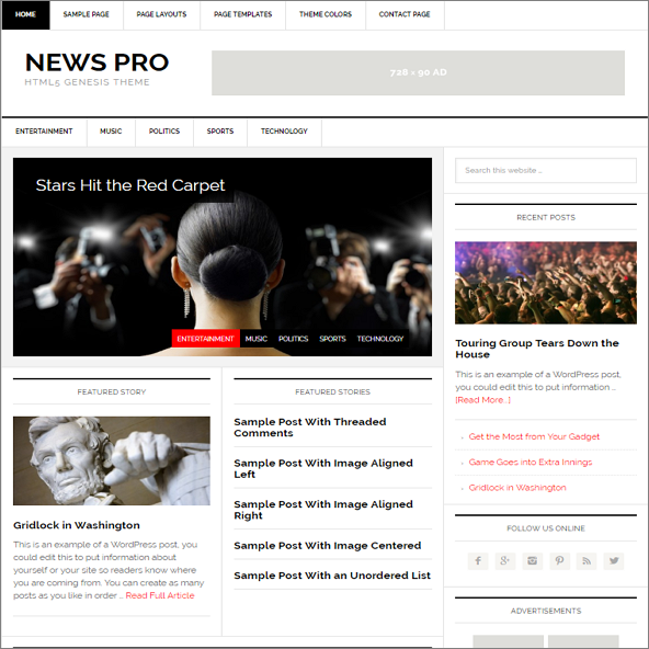 News Pro by StudioPress