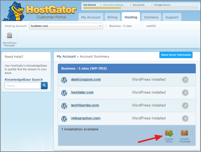 How to Start a WordPress Blog on HostGator [With Pictures] 4