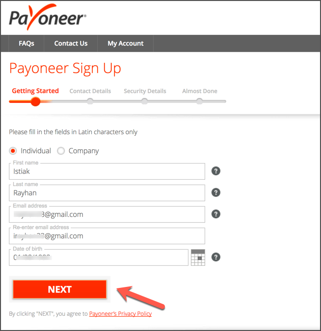 How To Sign Up For Payoneer In 2020 [With $50 Bonus] 3