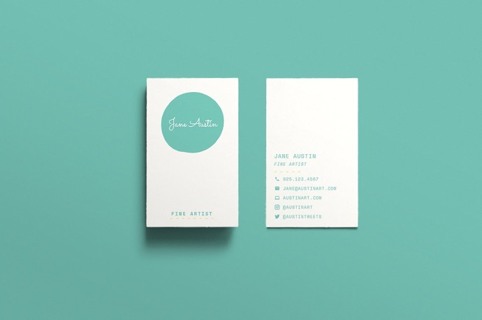30+ Simple & Minimal Business Card Templates For 2019 16
