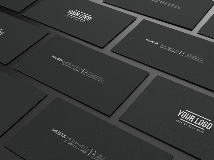 30+ Simple & Minimal Business Card Templates For 2019 6