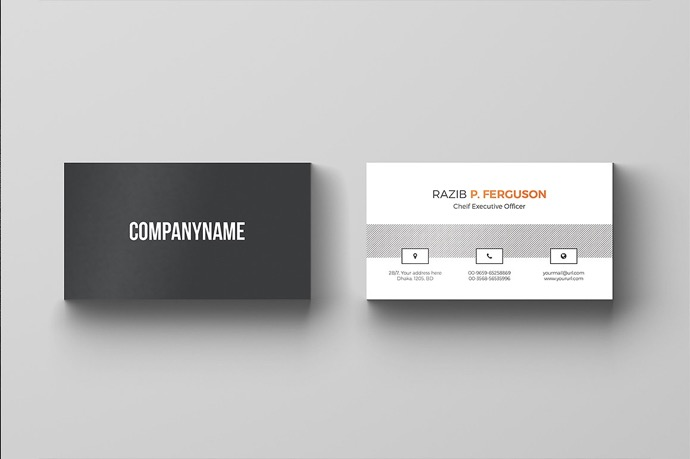 30+ Simple & Minimal Business Card Templates For 2019 34