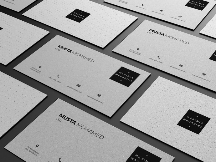 30+ Simple & Minimal Business Card Templates For 2019 32