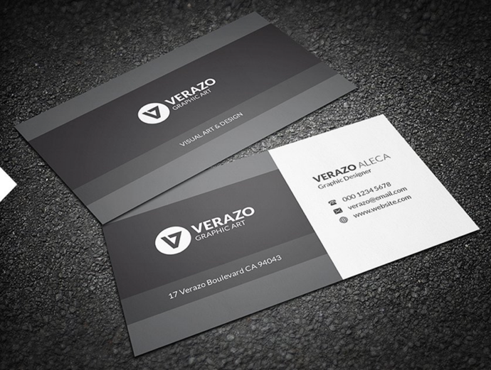 30+ Simple & Minimal Business Card Templates For 2019 21