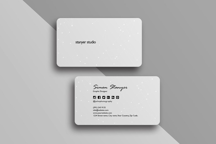 30+ Simple & Minimal Business Card Templates For 2019 11