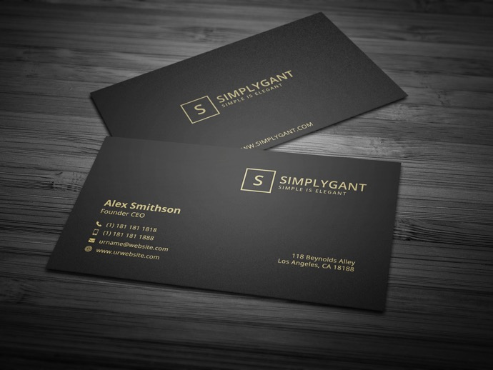 30+ Simple & Minimal Business Card Templates For 2019 25