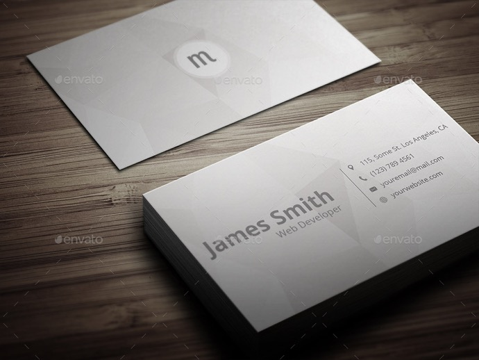 30+ Simple & Minimal Business Card Templates For 2019 5