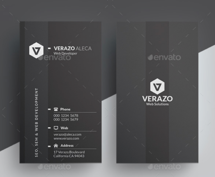 30+ Simple & Minimal Business Card Templates For 2019 13