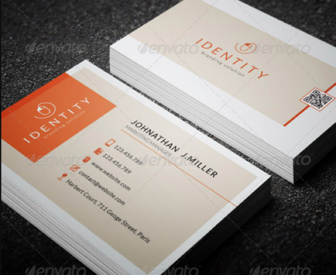 30+ Simple & Minimal Business Card Templates For 2019 22