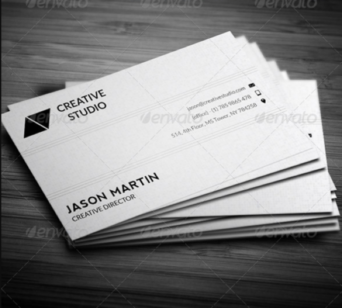 30+ Simple & Minimal Business Card Templates For 2019 24