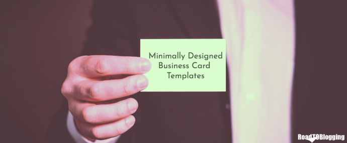 30+ Simple & Minimal Business Card Templates For 2019 1