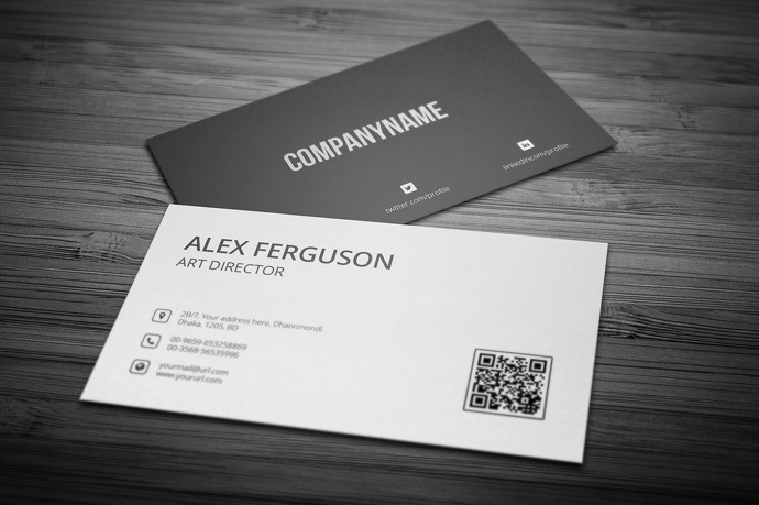 30+ Simple & Minimal Business Card Templates For 2019 7