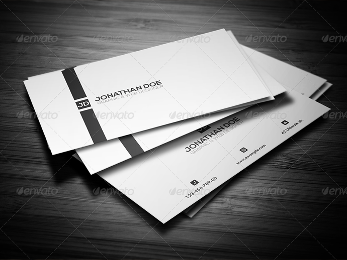 30+ Simple & Minimal Business Card Templates For 2019 8