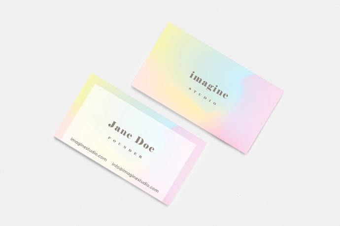 30+ Simple & Minimal Business Card Templates For 2019 14