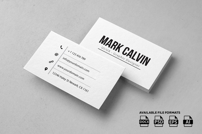 30+ Simple & Minimal Business Card Templates For 2019 10