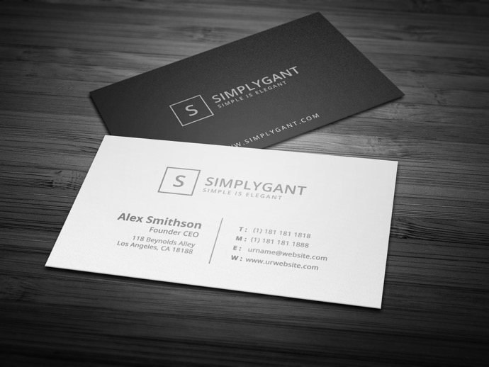 30+ Simple & Minimal Business Card Templates For 2019 23