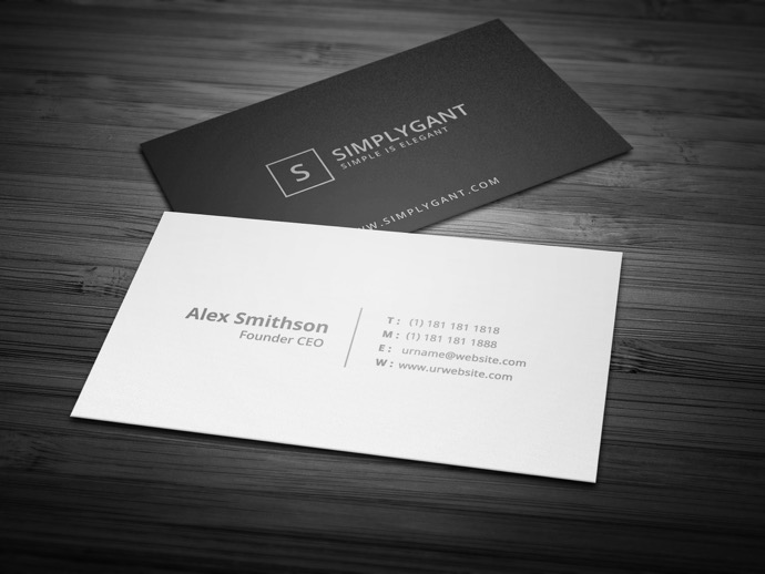 30+ Simple & Minimal Business Card Templates For 2019 35