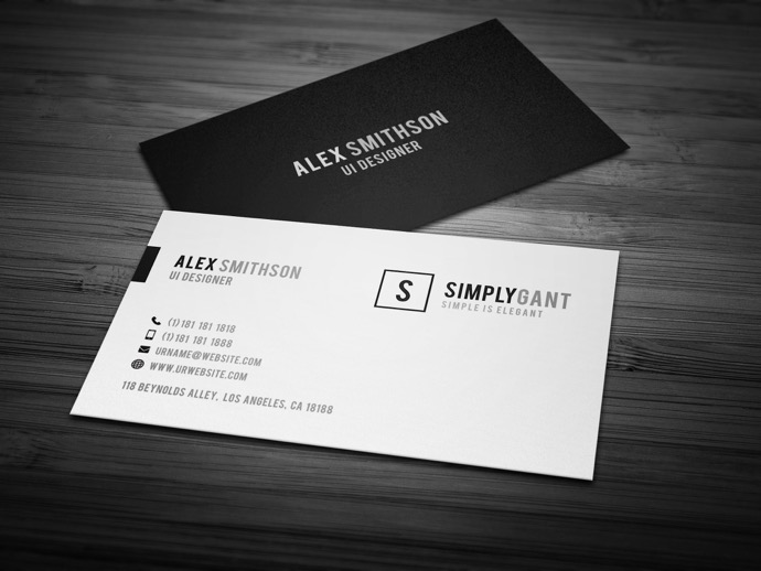 30+ Simple & Minimal Business Card Templates For 2019 27