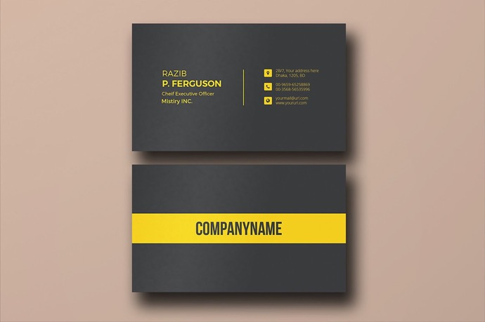 30+ Simple & Minimal Business Card Templates For 2019 20