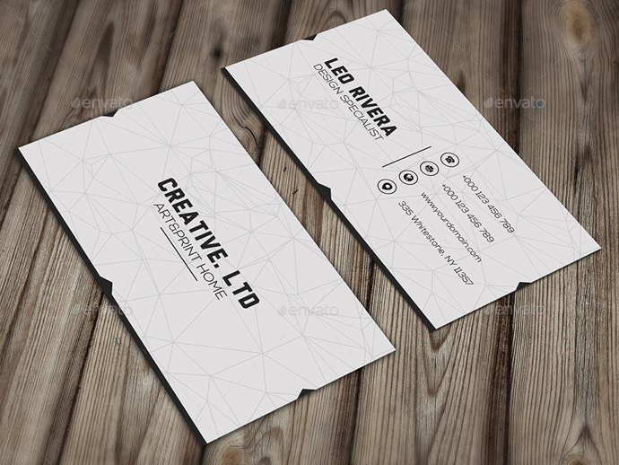 30+ Simple & Minimal Business Card Templates For 2019 3