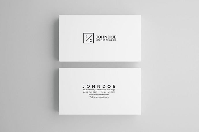30+ Simple & Minimal Business Card Templates For 2019 9
