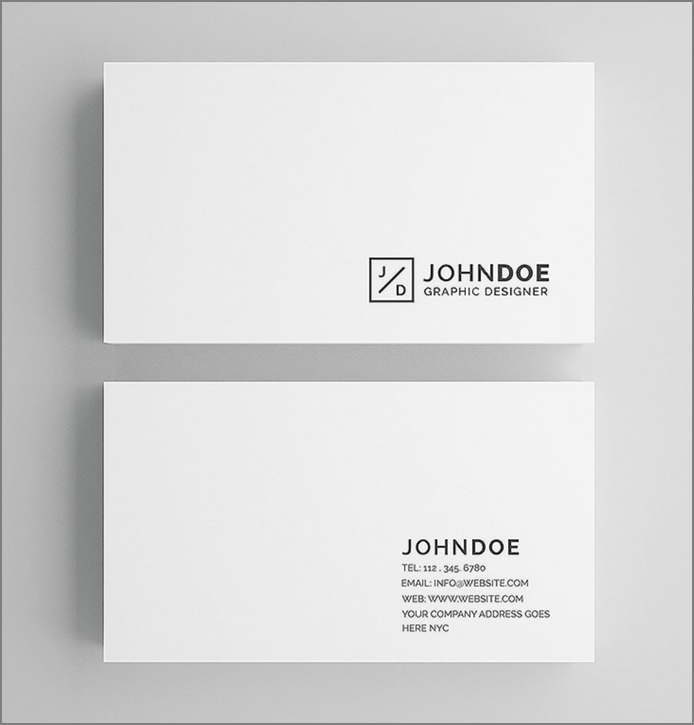 30+ Simple & Minimal Business Card Templates For 2019 2