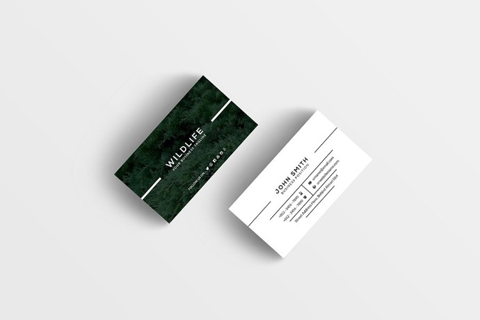 30+ Simple & Minimal Business Card Templates For 2019 18
