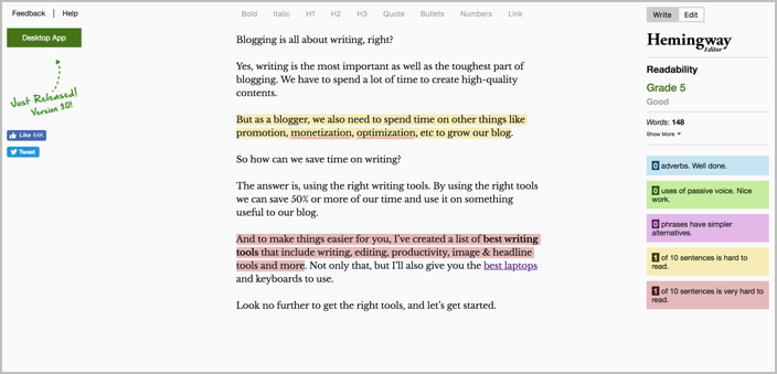 20 Essential Writing Tools & Apps For Bloggers & Writers 3