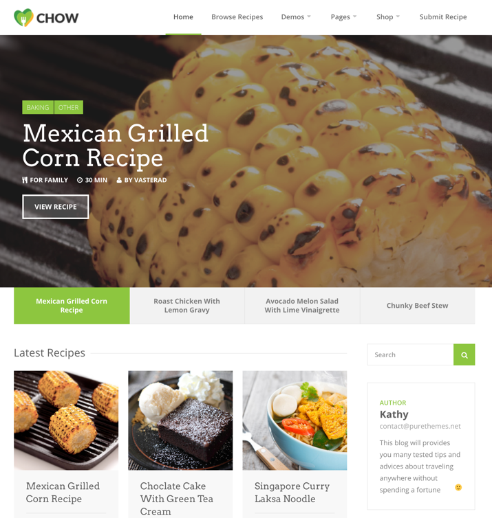 30 Best WordPress Themes For Food Blogs (2019) 20