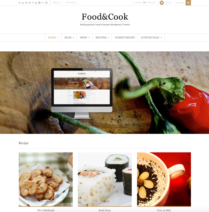 30 Best WordPress Themes For Food Blogs (2019) 7