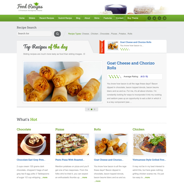 30 Best WordPress Themes For Food Blogs (2019) 4