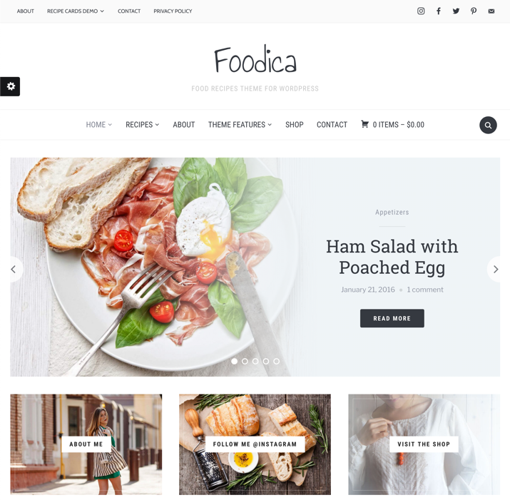 30 Best WordPress Themes For Food Blogs (2019) 2