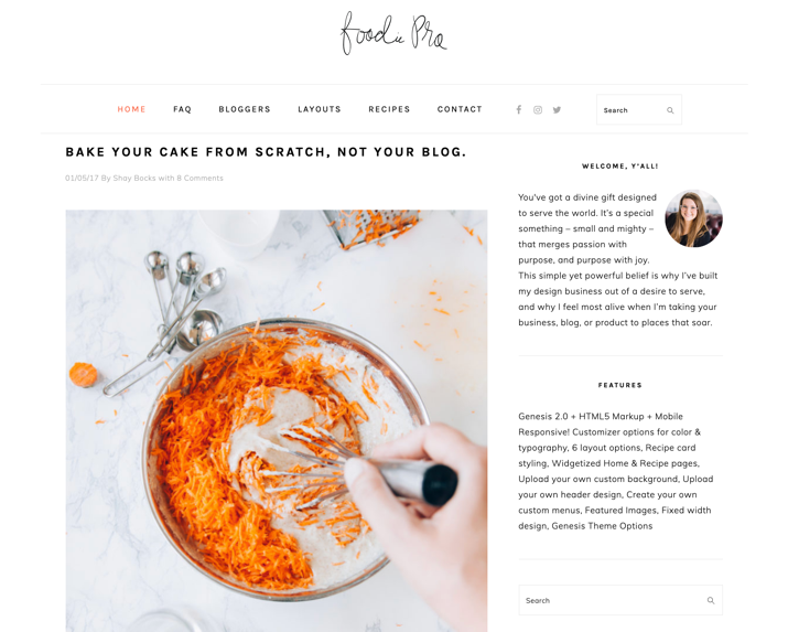 30 Best WordPress Themes For Food Blogs (2019) 3