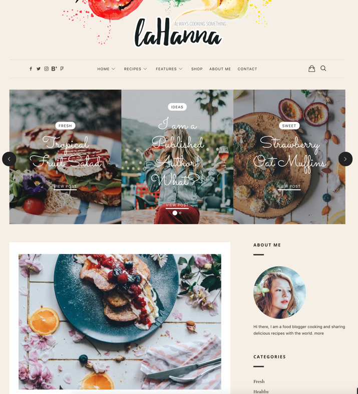 30 Best WordPress Themes For Food Blogs (2019) 24