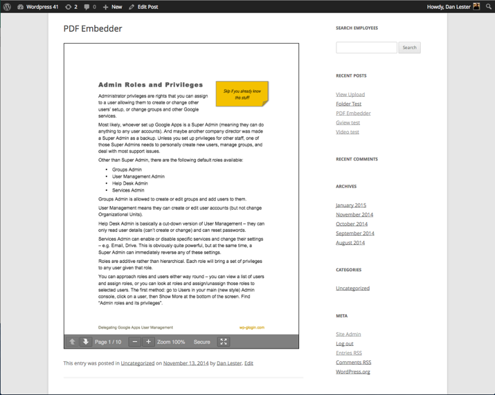 How To Embed PDF Files In WordPress Posts (2019) 6