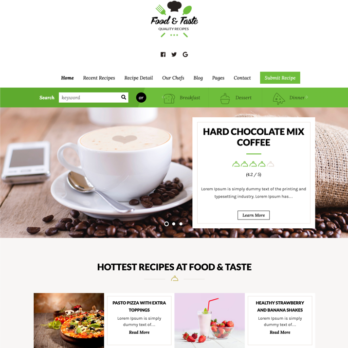 30 Best WordPress Themes For Food Blogs (2019) 30