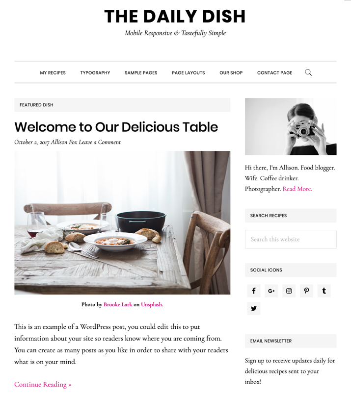 30 Best WordPress Themes For Food Blogs (2019) 14