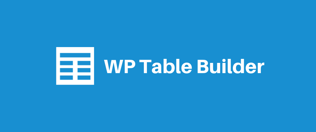 Introducing WP Table Builder - The Drag & Drop WordPress Table Plugin! 1