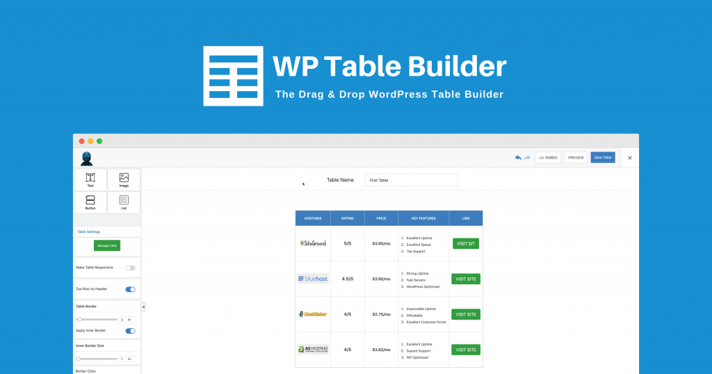 Introducing WP Table Builder - The Drag & Drop WordPress Table Plugin! 2