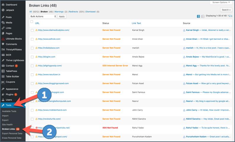 How To Find & Fix Broken Links In WordPress (Easy Method) 3